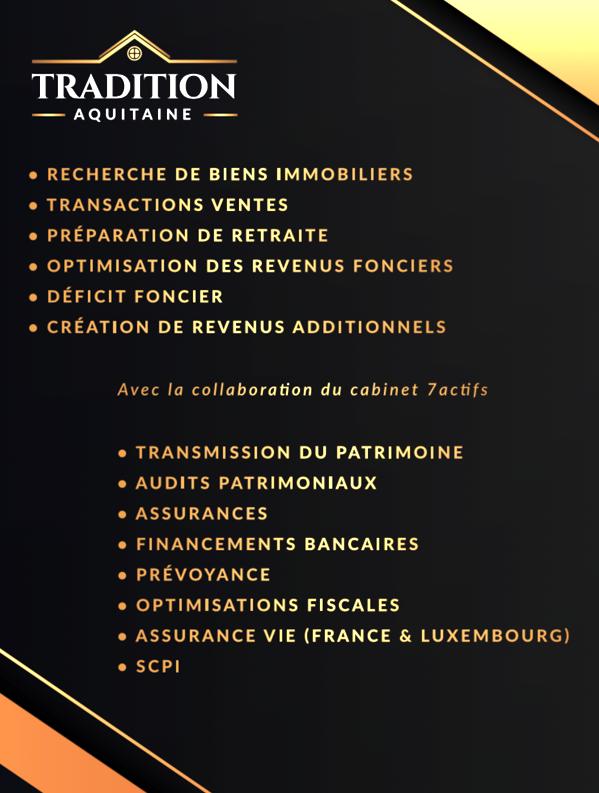 Vitrine Agence Tradition Aquitaine